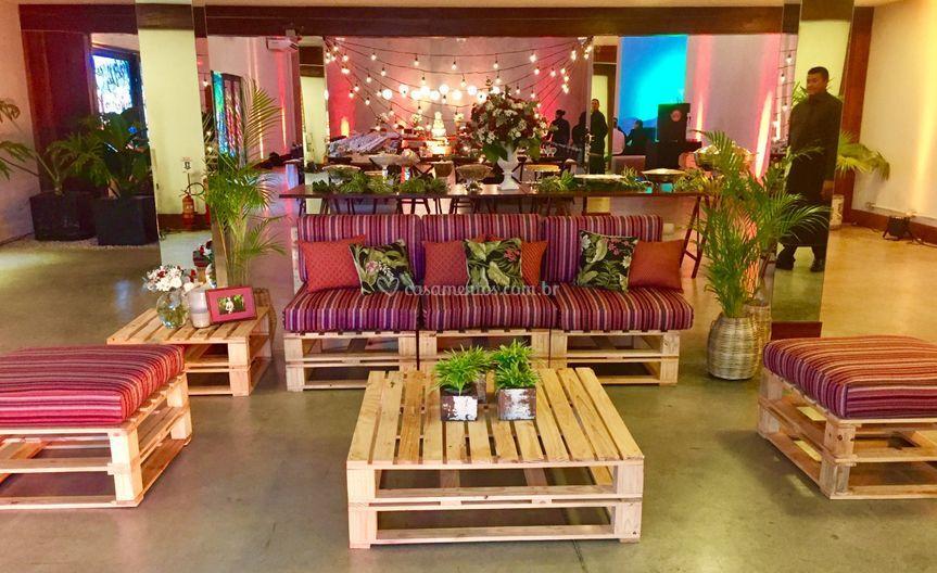 Lounge em paletes