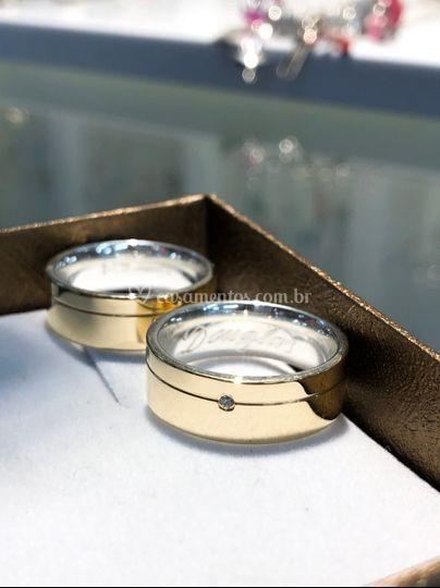 Modelo em prata c/ ouro 18k