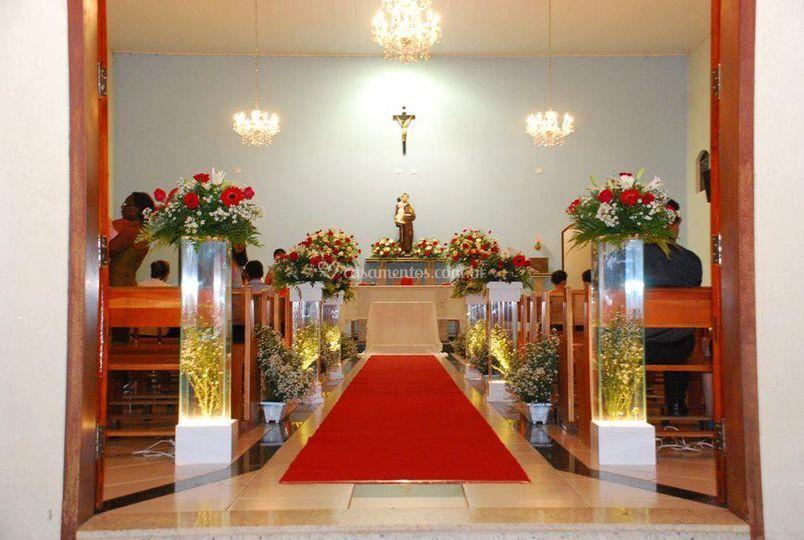 Decoração floral igreja