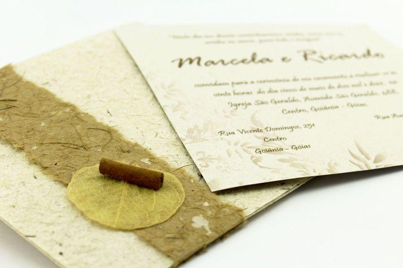 Convite Pepita Rustico