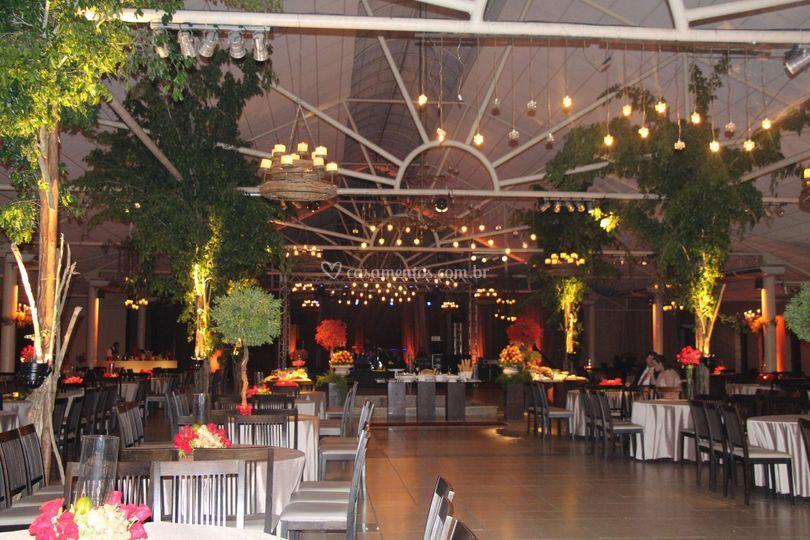 Salão decorado por Maria Odete