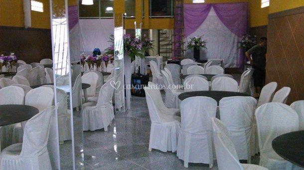 Decoração das mesas e cadeiras