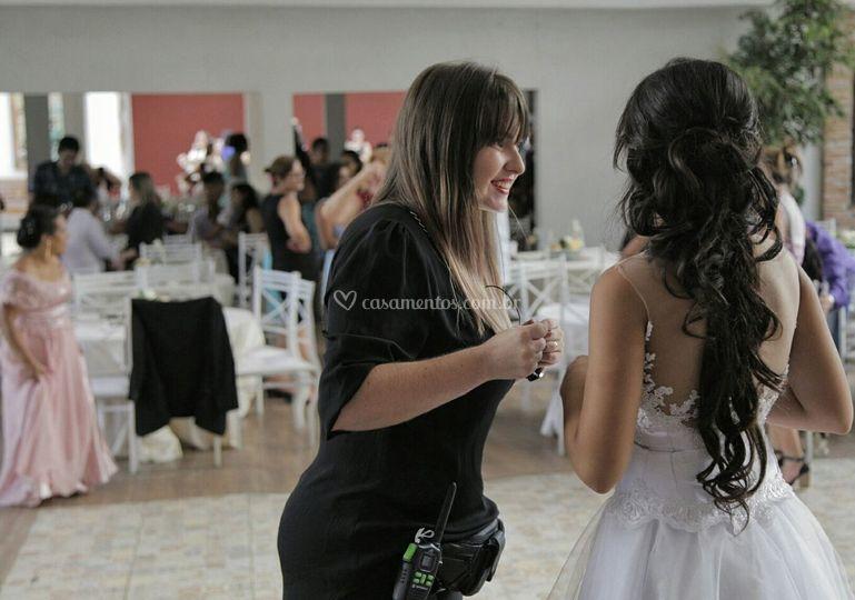 Sorrisos com a noiva