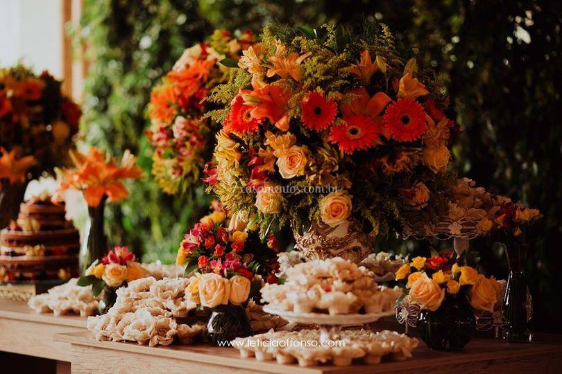 Mesa com nossos doces