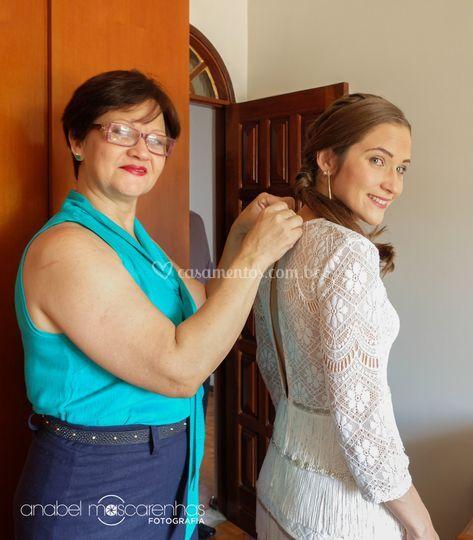 Mãe e filha em momento único