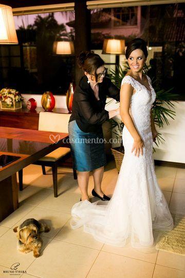 Marlise Dumke veste sua Noiva.