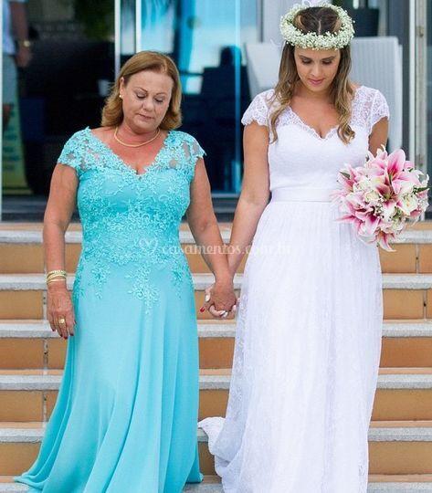 Mãe da Noiva e Noiva em Cancún