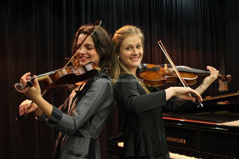 Primeiro e segundo violino