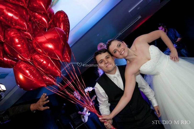 Balao metalizado casamentos