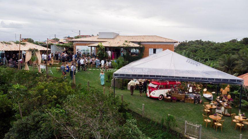 Vista da festa