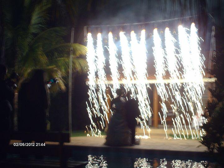 Cascata de fogos casamento