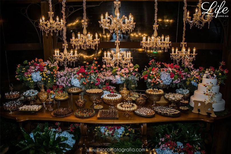 Espaço da Torre mesa de doces