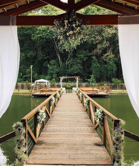 Deck entrada da noiva