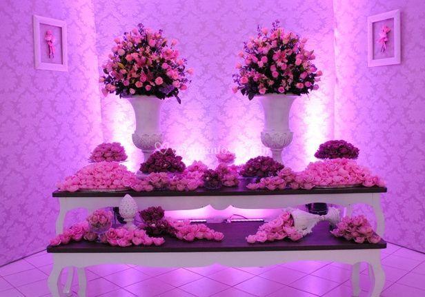 Decoração especial com flores