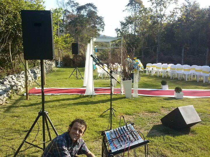 Sonorização para cerimônia