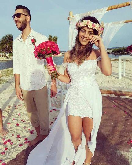 Noiva Janaina de Cancún