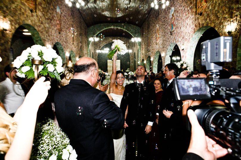 Detalhe - saída dos noivos