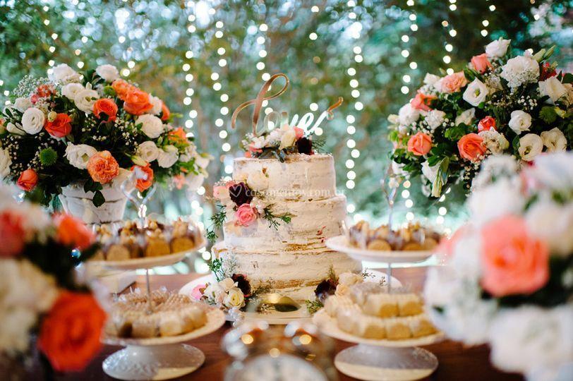 Mesa linda de casamento
