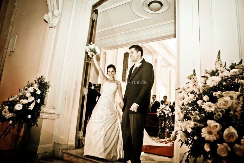 Os noivos Lais e Romulo