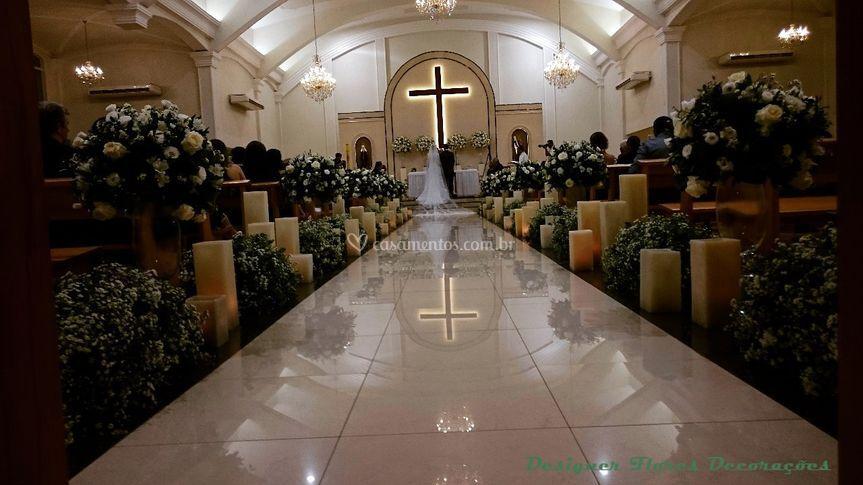Decoração cerimônia religiosa