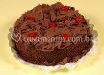 Bolo trufado chocolate