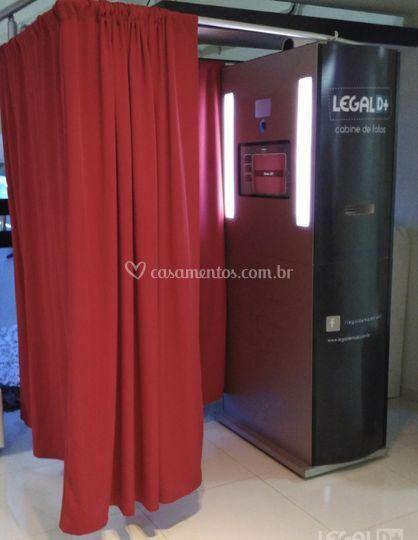 Cabine de Foto cortina vermelh