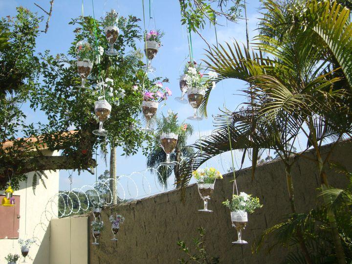 Decoração suspensa jardim
