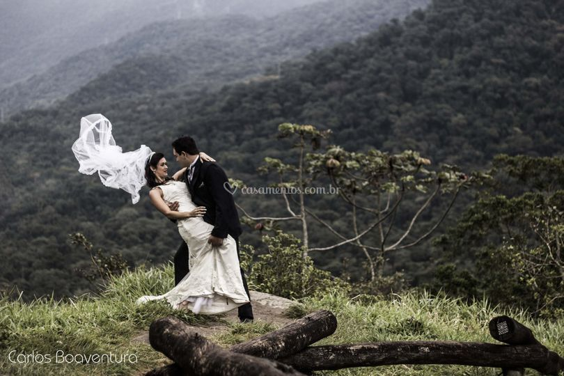 Trash the dress na montanha