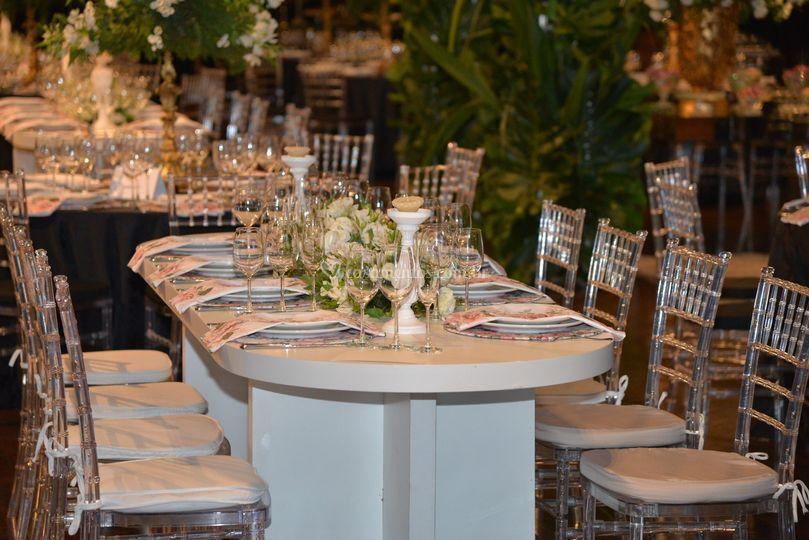Mesa Banquete Branca