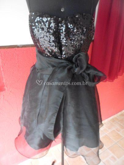 Vestido curto laço