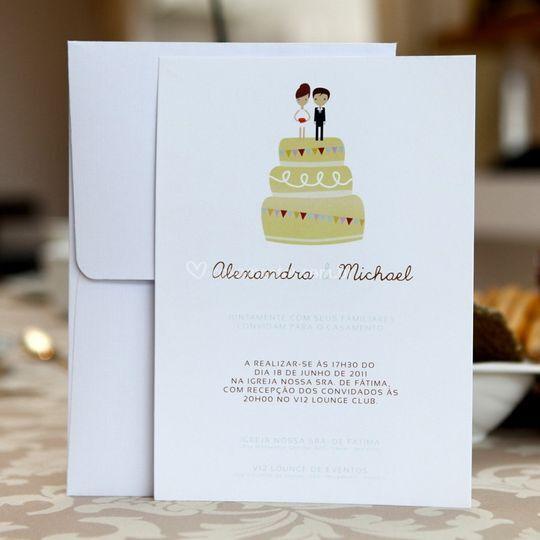Convite de casamento noivos