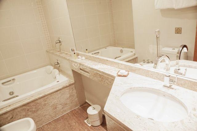 Banheiro Master Para Os Noivos De Class Hotel De Pouso Alegre Foto 1
