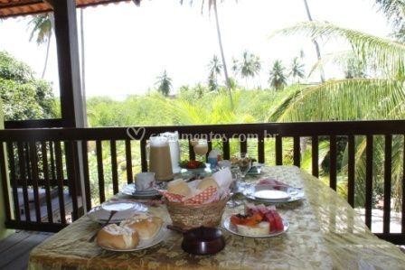 Café de manhã com vista