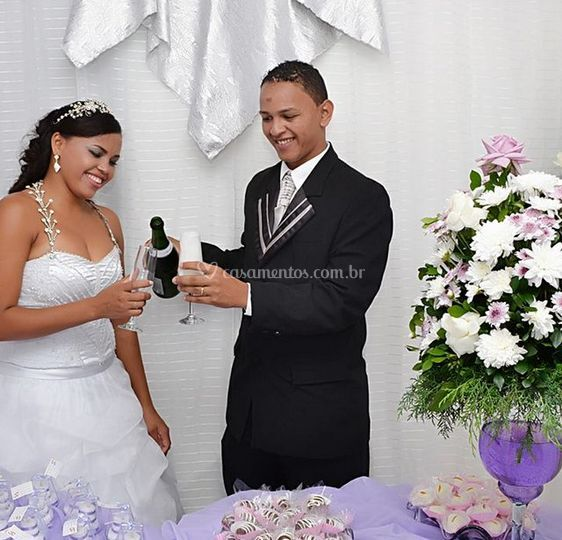 Ele imortaliza seu casamento