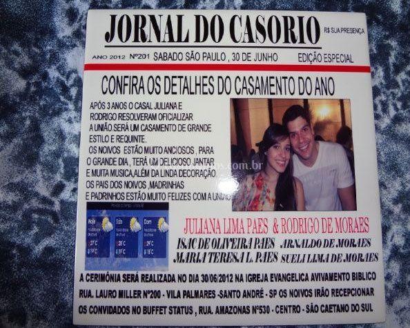 Convite capa de jornal