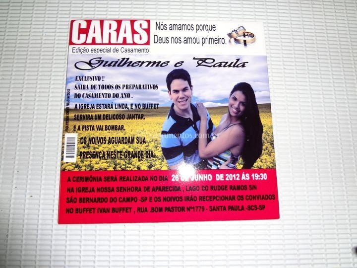Convite Capa de Revista