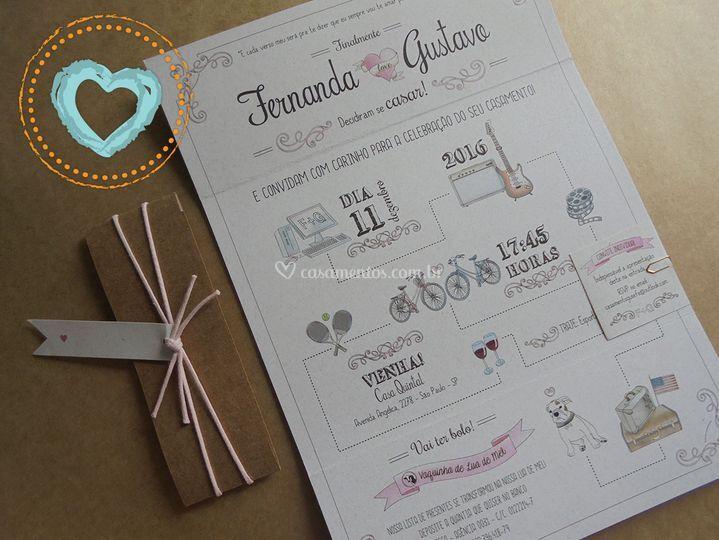 Convite Janelão Vintage