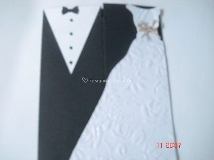 Convite casamento scrap