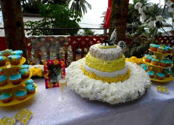 Vista do bolo