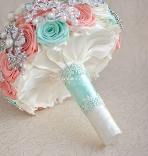 Buque flores de tecido