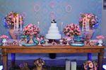 Mesa decorada bolo