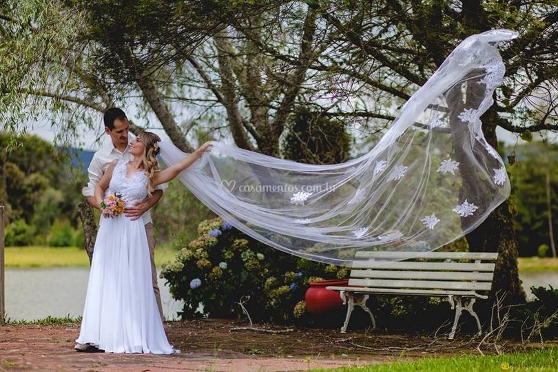 Noiva vestido boho chic