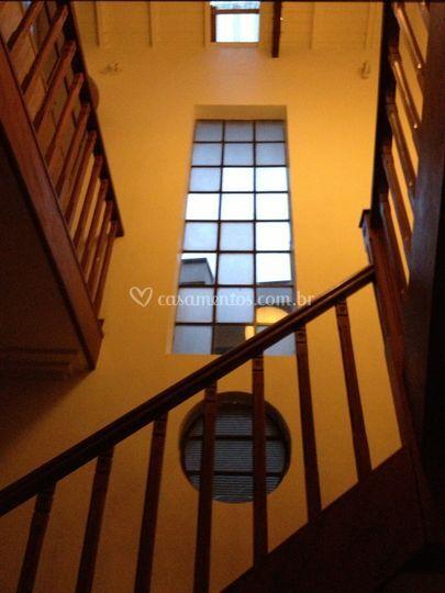 Escada para as suítes