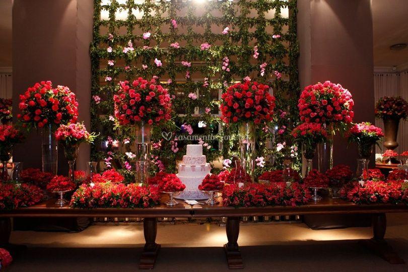 Mesas e flores
