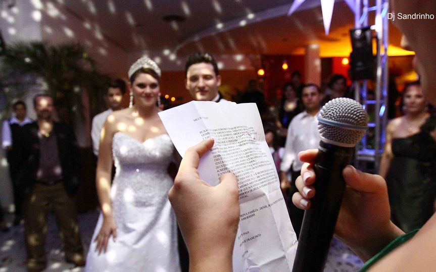 Homenagens aos noivos
