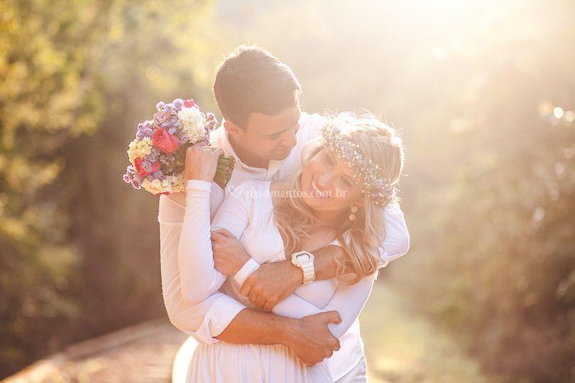 Buque de noiva viva flores