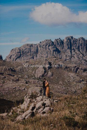 Noivos nas montanhas