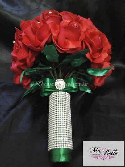 Buquê rosas de tecido
