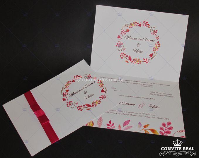 Convite em rosa