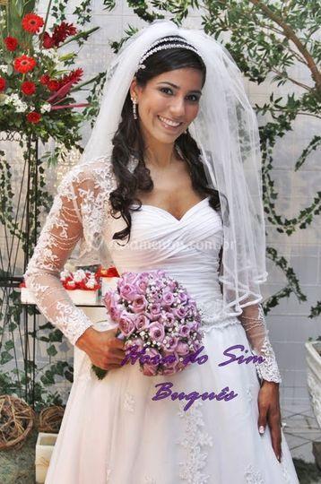 Buquê de noiva lilás
